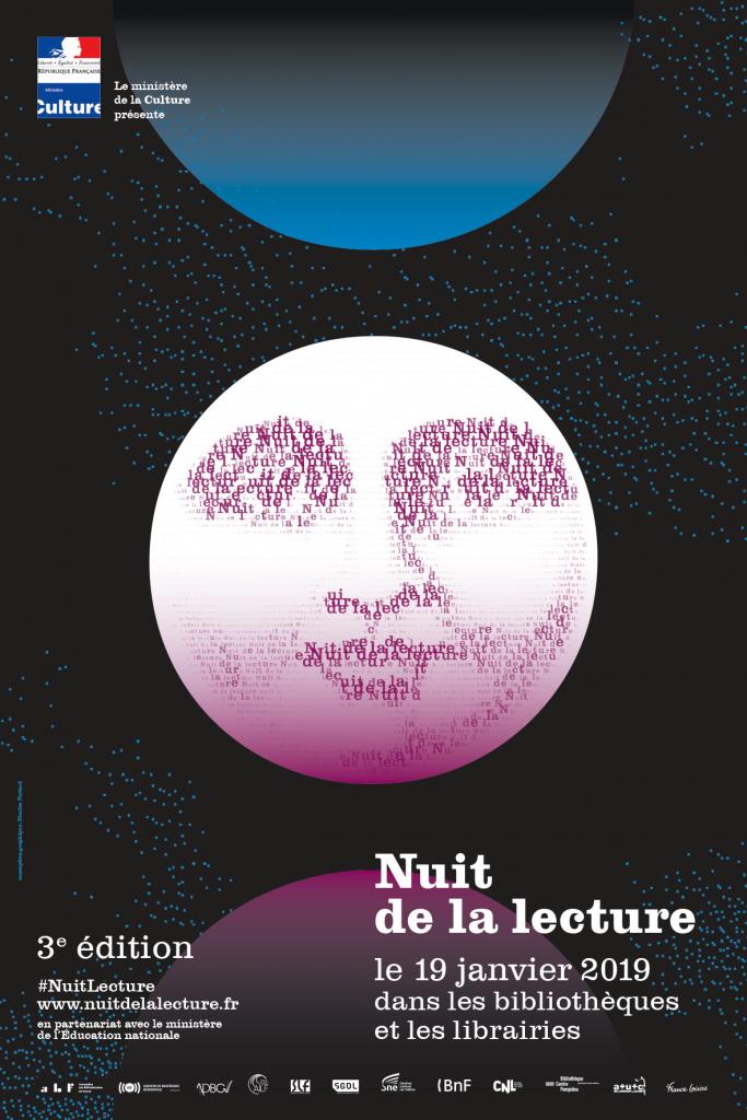 Affiche de la nuit de la lecture 2019 40x60 cm