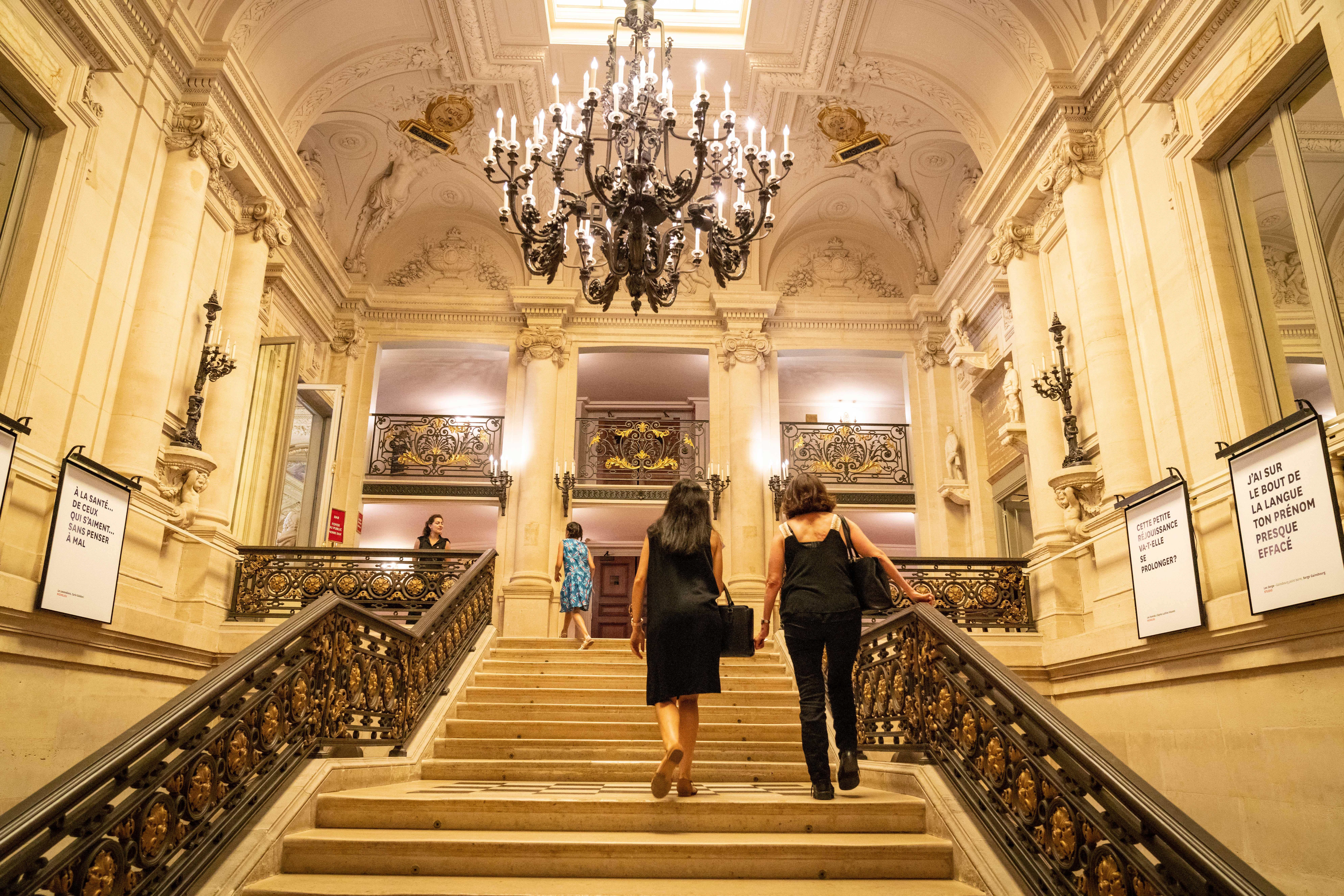 Photo des escaliers de la Comédie Française 2019